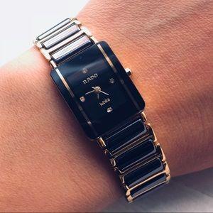 Rado Jubile Gold & Black Tungsten Wristwatch